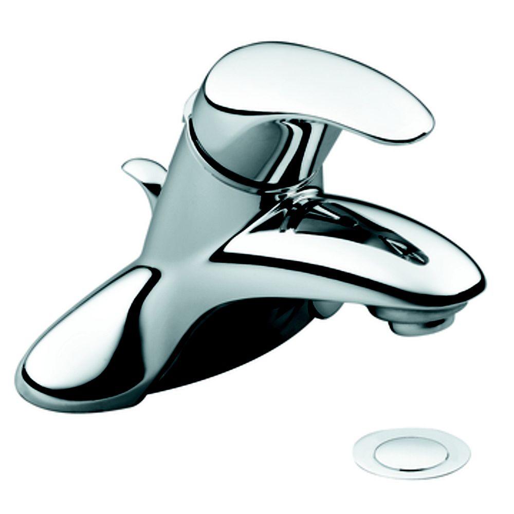 MOEN Single-Handle Low-Arc Bathroom Faucet in Chrome Finish