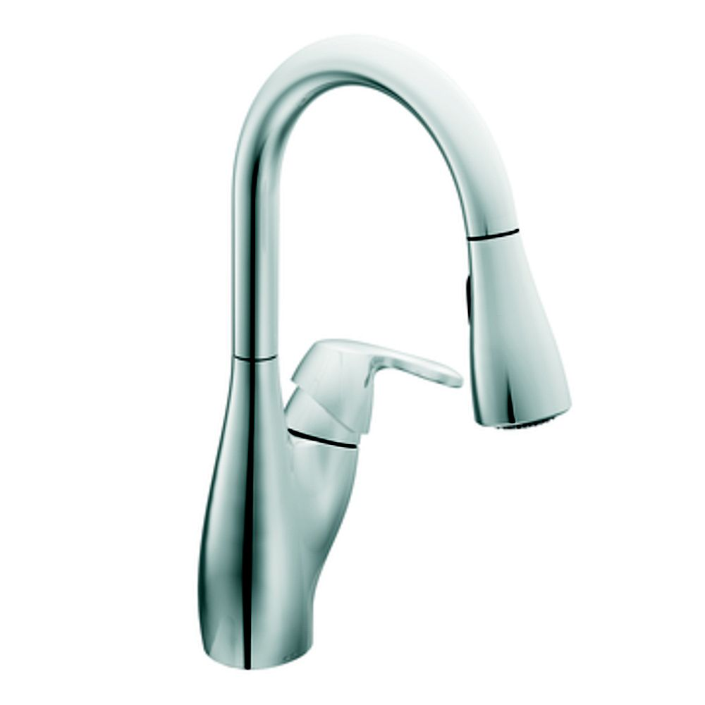 MOEN Chrome One-Handle High Arc Pulldown Kitchen Faucet