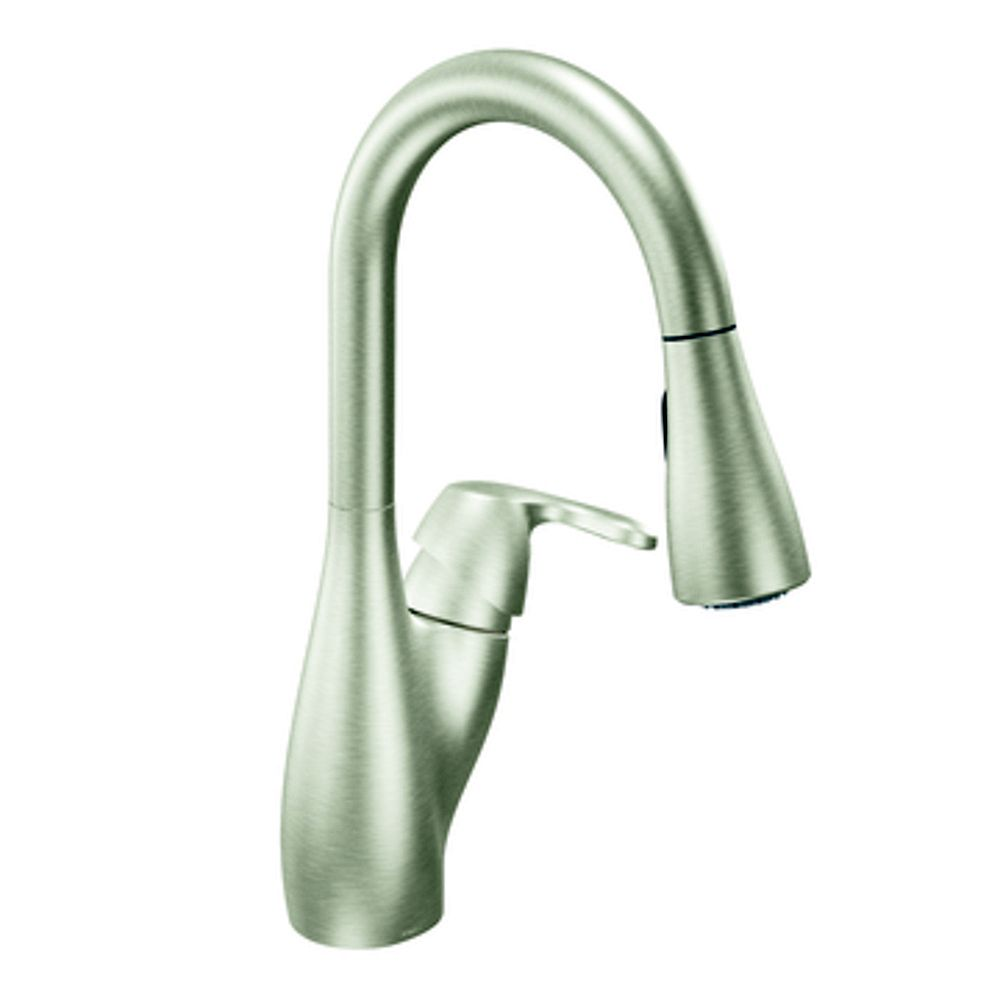 MOEN Stainless One-Handle High Arc Pulldown Kitchen Faucet