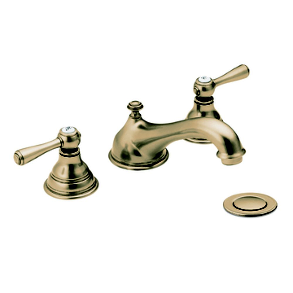 MOEN Kingsley Widespread 2-Handle Bathroom Faucet in Antique Bronze Finish