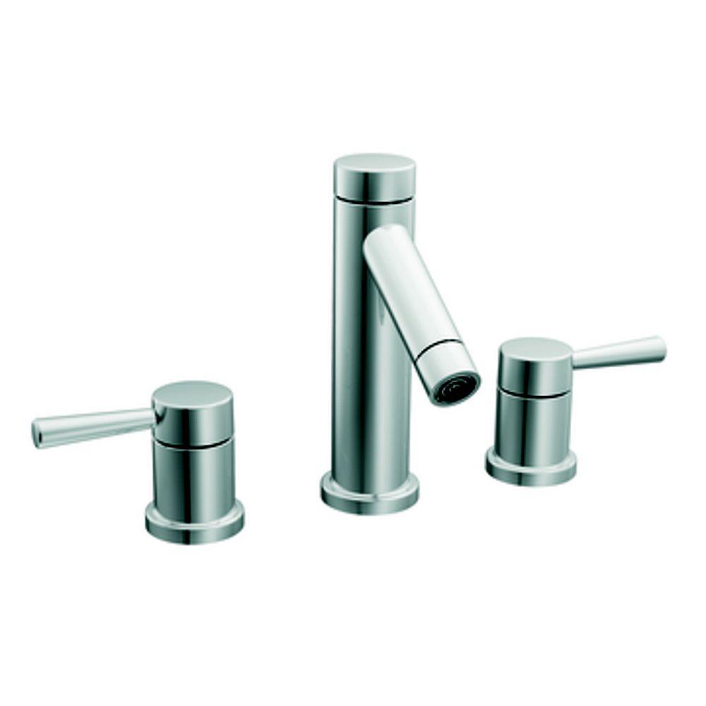 MOEN 2-Handle High-Arc Bathroom Faucet in Chrome Finish