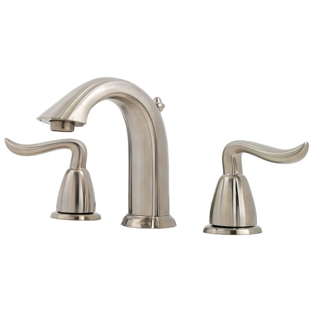 Pfister Santiago 8-inch Widespread 2-Handle Bathroom Faucet in Brushed Nickel Finish