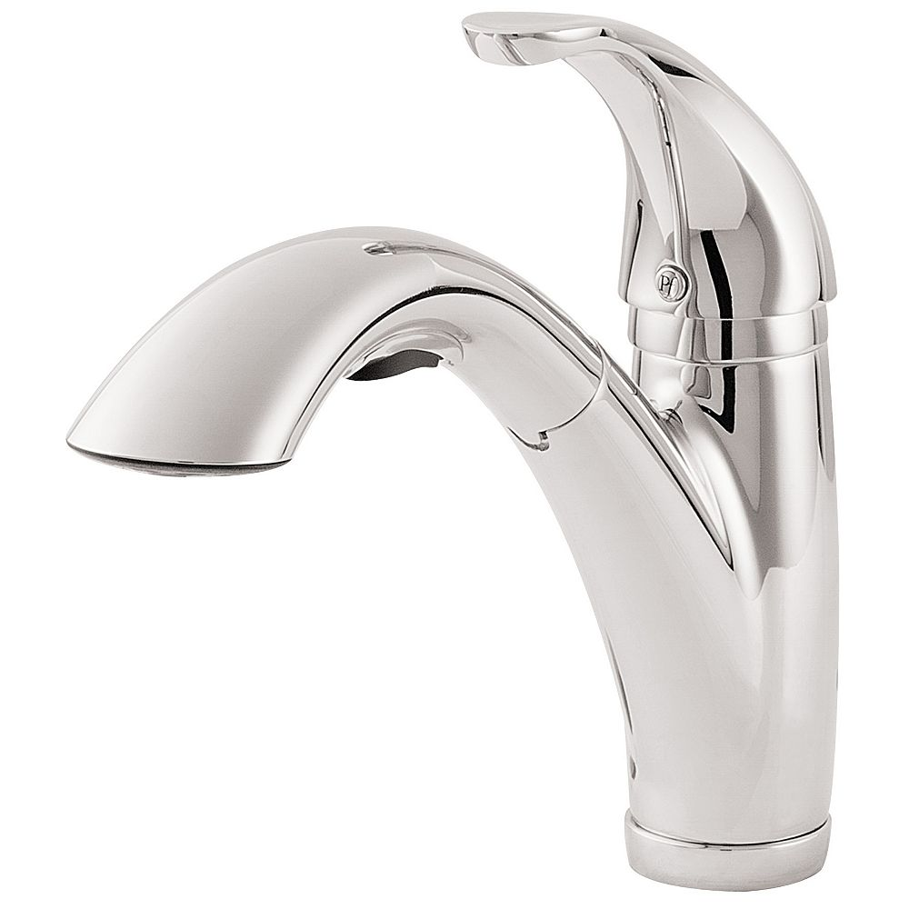 Pfister Parisa Lead Free Single Control Pull-Out Kitchen Faucet in Polished Chrome