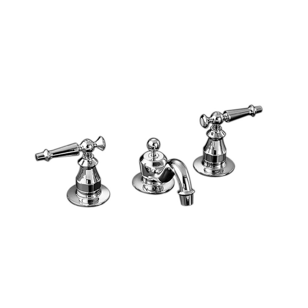 KOHLER Antique Widespread Bathroom Faucet in Polished Chrome Finish