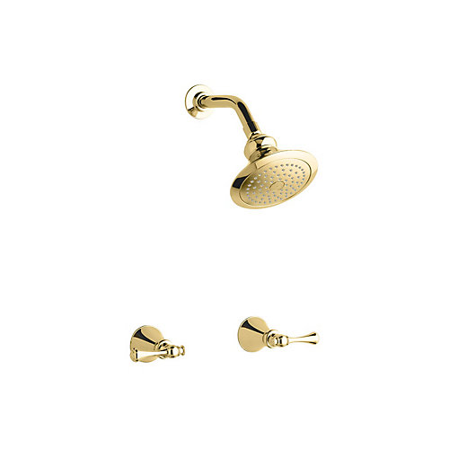 Revival Shower Faucet in Vibrant Polished Brass