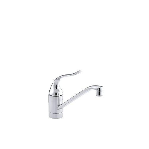 KOHLER Coralais Single-Handle Single Hole Kitchen Sink Faucet in Polished Chrome