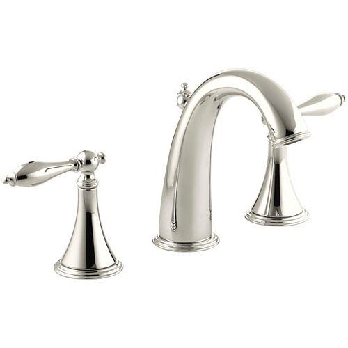 Finial(R) widespread bathroom sink faucet with lever handles