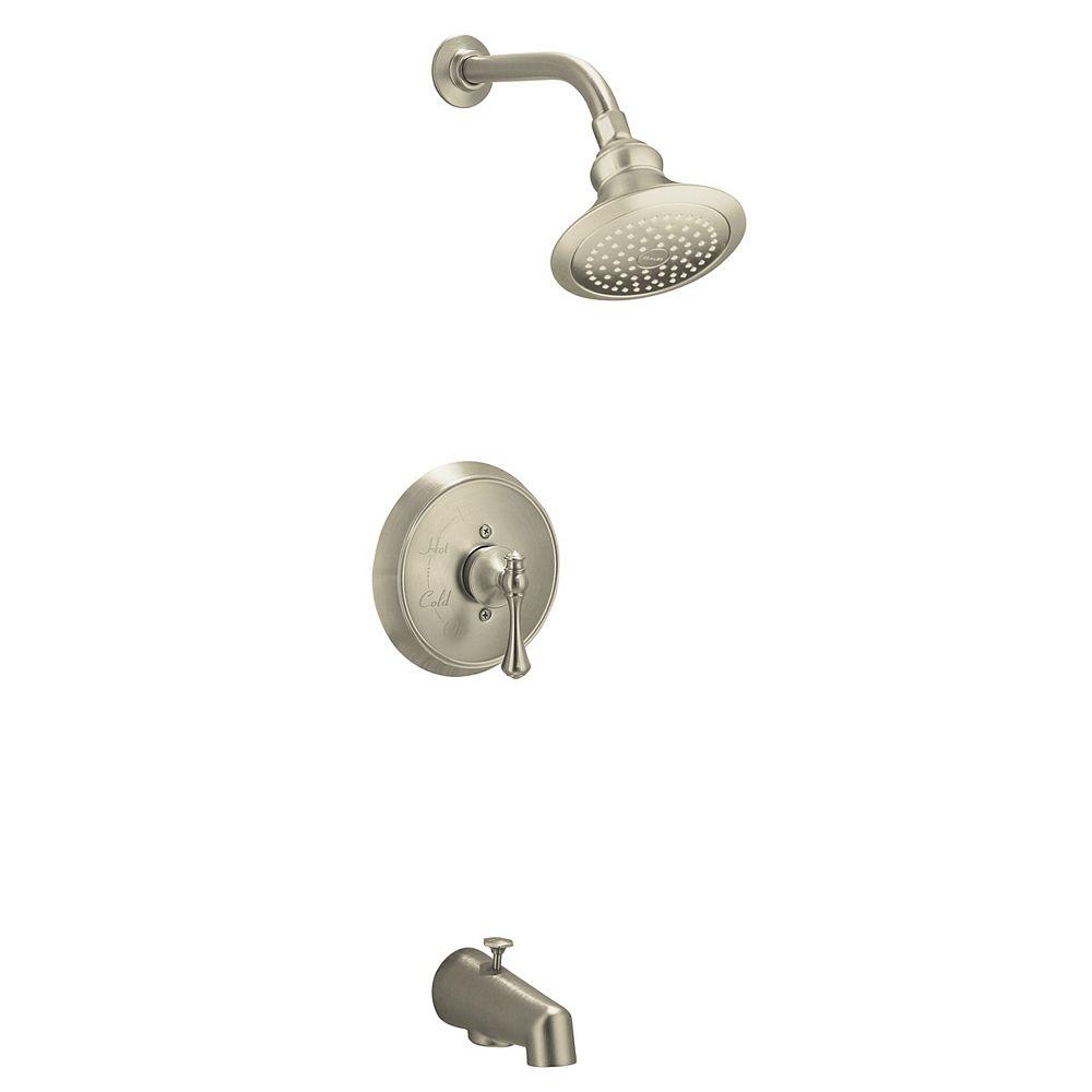 KOHLER Revival Rite-Temp Pressure-Balancing Bath/Shower Faucet in Vibrant Brushed Nickel