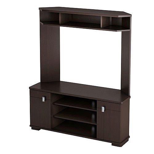 Vertex 47.75-inch x 57.5-inch x 16.75-inch TV Stand in Brown
