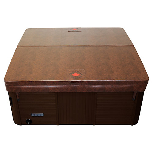 82-inch x 82-inch Square Hot Tub Cover with 5-inch/3-inch Taper in Chestnut