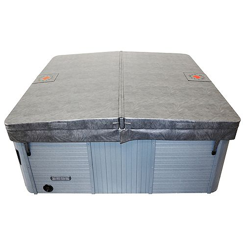 90-inch x 90-inch Square Hot Tub Cover with 5-inch/3-inch Taper in Grey