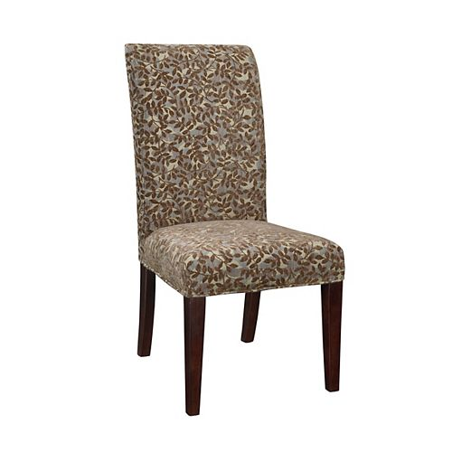 Blue Green, Red Tapestry with Raised Brown Chenille Leaves Slip Over - Pack 1 (Fits 741-440 Chair)