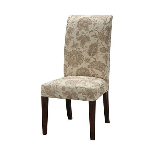 Woven Gold with Taupe Floral Pattern Slip Over - Pack 1 (Fits 741-440 Chair)