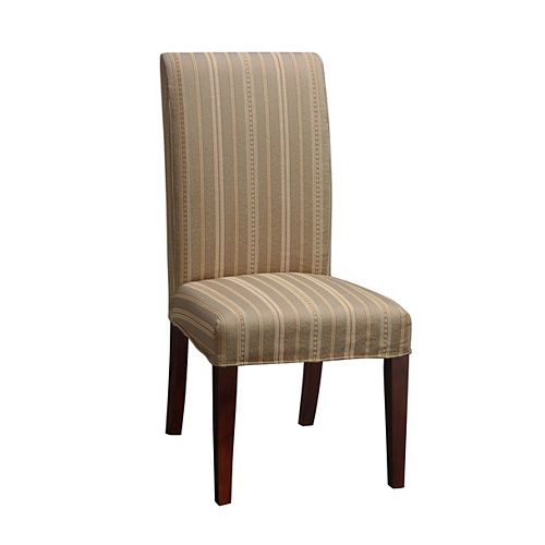 Woven Taupe with Copper, Gold & White Stripes Slip Over - Pack 1 (Fits 741-440 Chair)