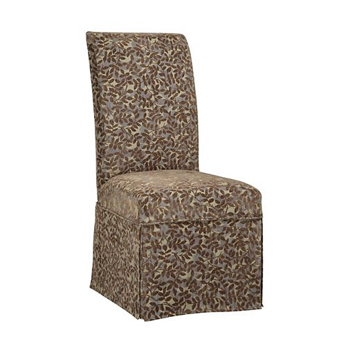 Blue Green, Red Tapestry with Raised Brown Chenille Leaves Skirted Slip Over - Pack 1 (Fits 741-440 Chair)
