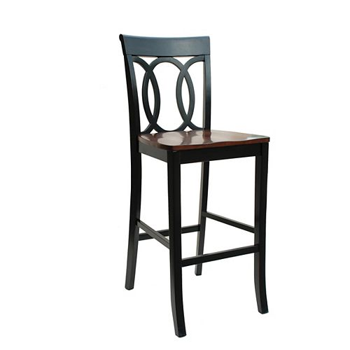 Olympic Oval Back Bar Stool, 30 Inch Seat Height