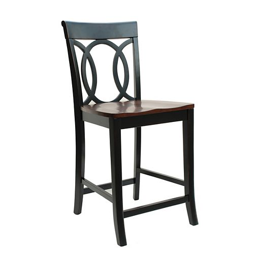 Olympic Oval Back Counter Stool, 24 Inch Seat Height