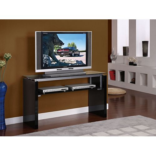 50 Inch Gloss Black Open Console TV Stand