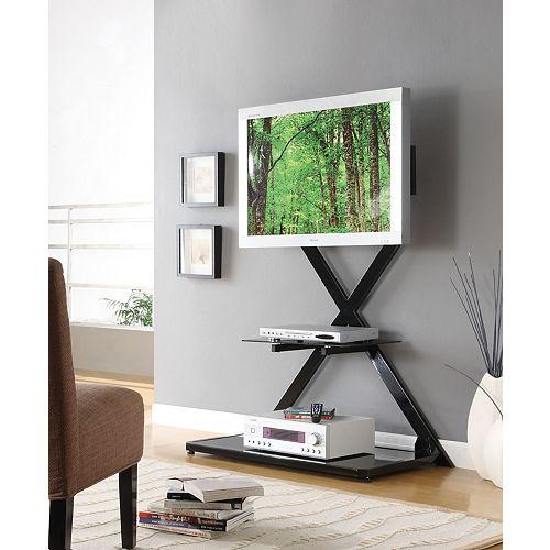 "Black Vertical ""X"" Back Plasma Stand"