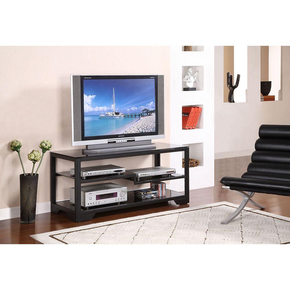 Powell Console télé noire rectangulaire de 121,9 cm (48 po)