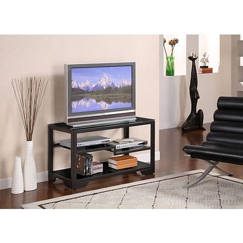 38 Inch Black Rectangular TV Stand