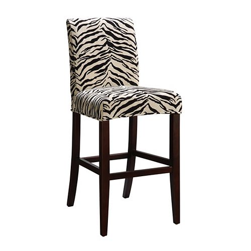 White & Onyx Tiger Striped Slip Over for Counter Stool or Bar Stool - Pack 1