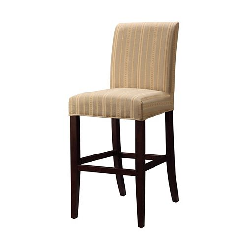 Woven Taupe with Copper, Gold & White Stripes Slip Over for Counter Stool or Bar Stool - Pack 1