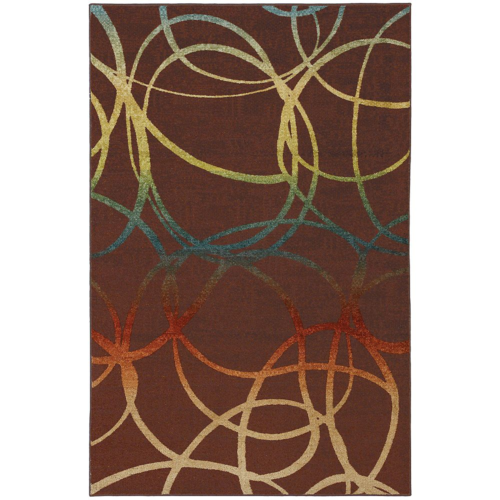 Mohawk Home Select Strata Acrobatic Brown 8 ft. x 10 ft. Rectangular Area Rug
