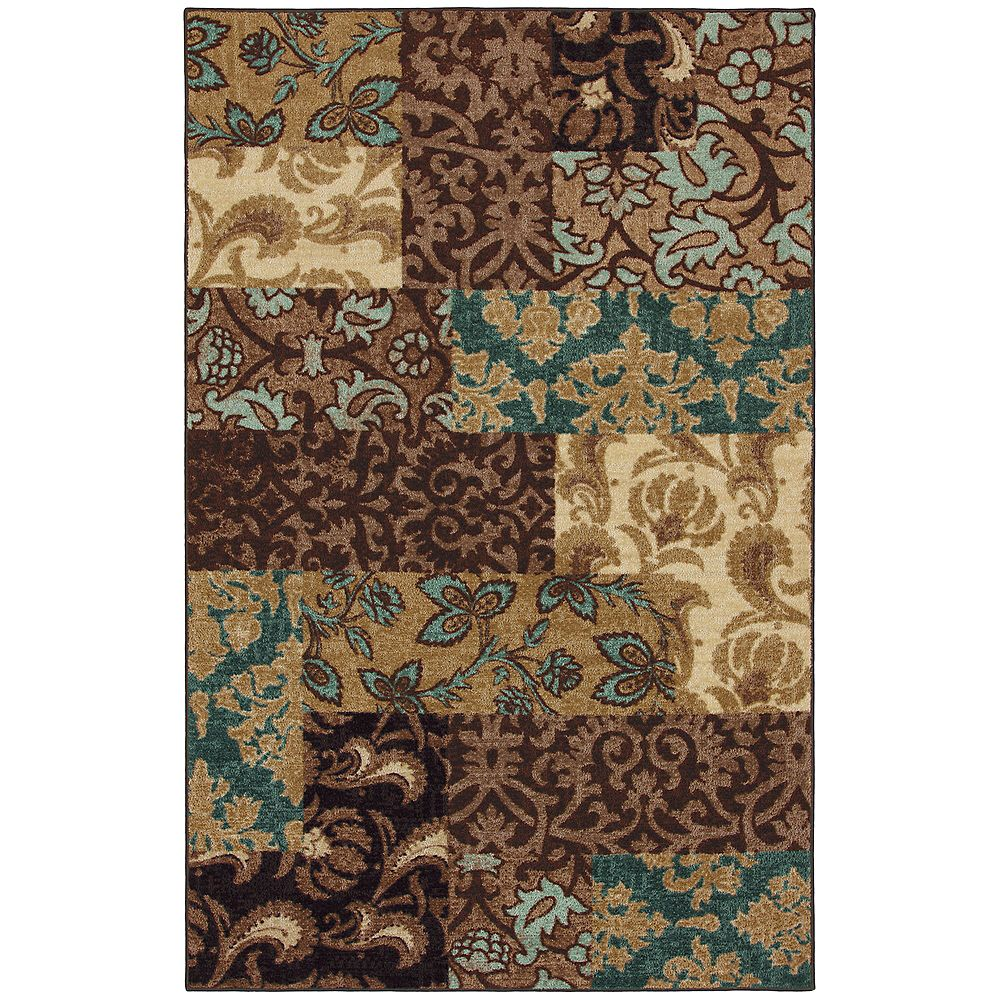 Mohawk Home Select Brown 8 ft. x 10 ft. Rectangular Area Rug