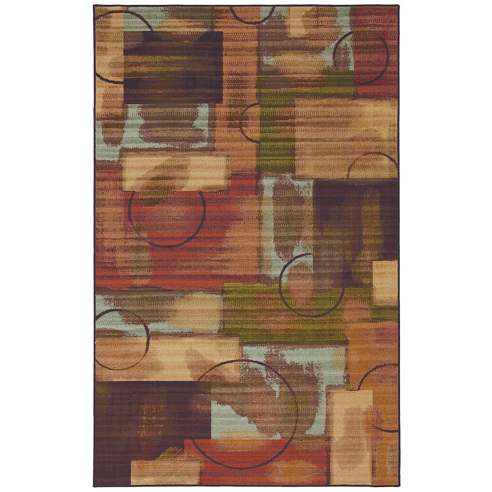 Mohawk Home Select Canvas Outer Limits Brown 5 ft. x 8 ft. Rectangular Area Rug