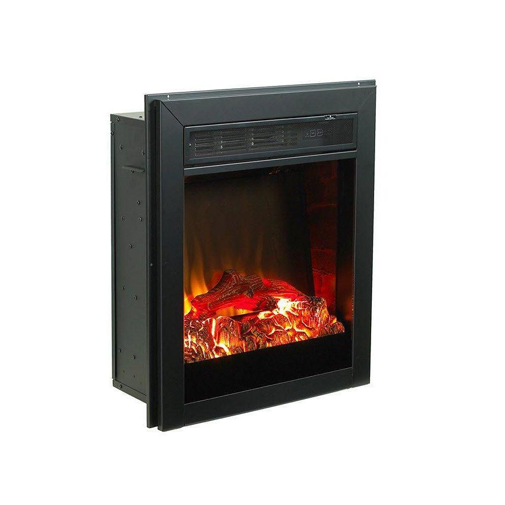 Paramount Muskoka Black Electric Fireplace Insert  21 Inches