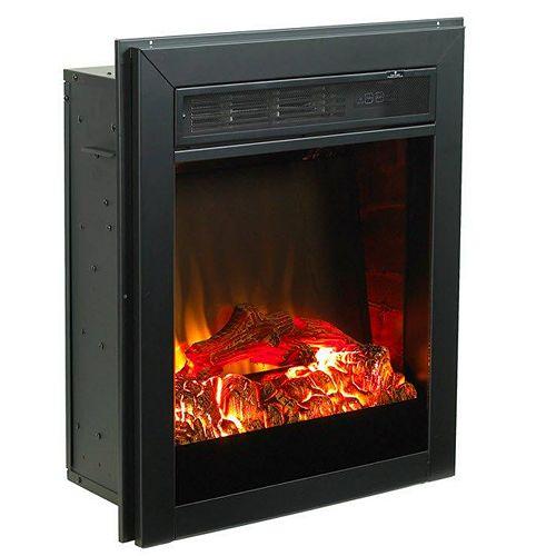 Muskoka Black Electric Fireplace Insert  21 Inches