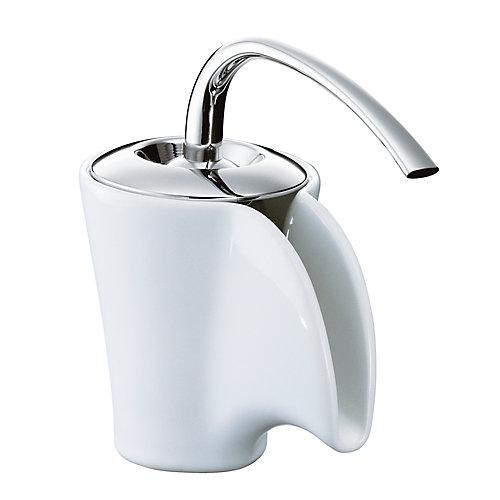 Vas Single-Control Ceramic Lavatory Faucet In White