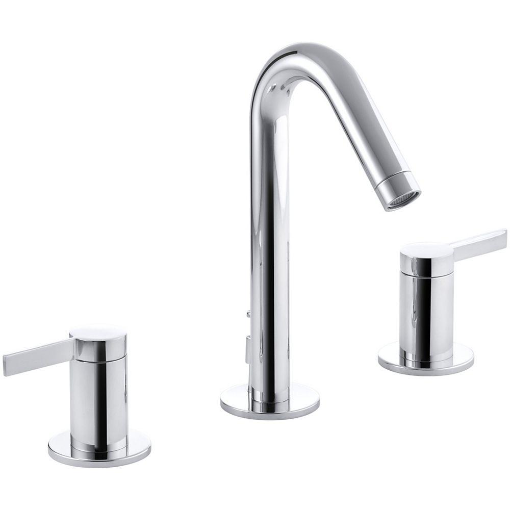 KOHLER Stillness(R) widespread bathroom sink faucet with lever handles