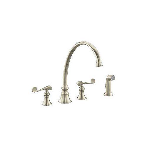 Revival Kitchen Sink Faucet In Vibrant Brushed Bronze