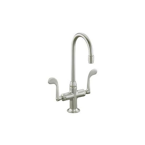 KOHLER Essex Entertainment Sink Faucet In Vibrant Brushed Nickel