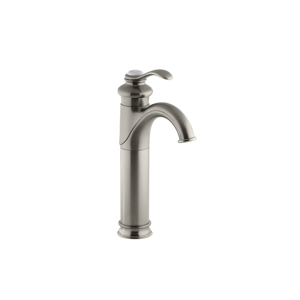 KOHLER Grand robinet de lavabo de salle de bain Fairfax a trou unique de robinet avec poignee a levier