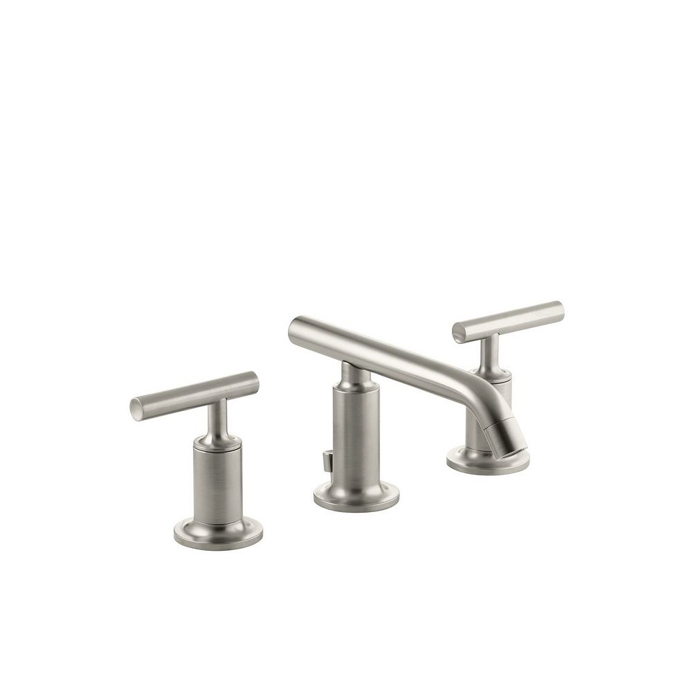 Kohler Purist R Widespread Bathroom Sink Faucet With Low Lever Handles And Low Spout The Home Depot Canada