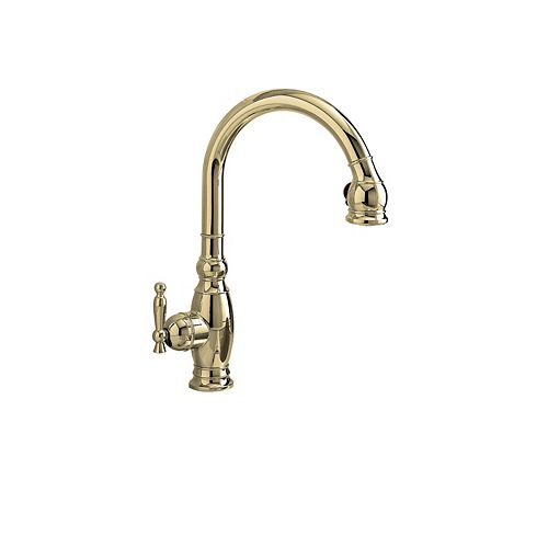 Vinnata Kitchen Sink Faucet In Vibrant Polished Nickel