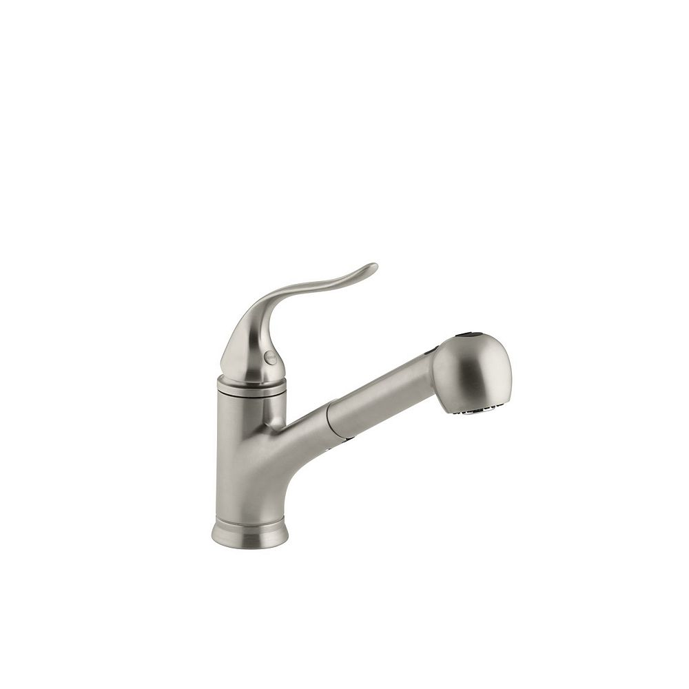 KOHLER Coralais Single-Control Pullout Spray Kitchen Sink Faucet In Vibrant Brushed Nickel