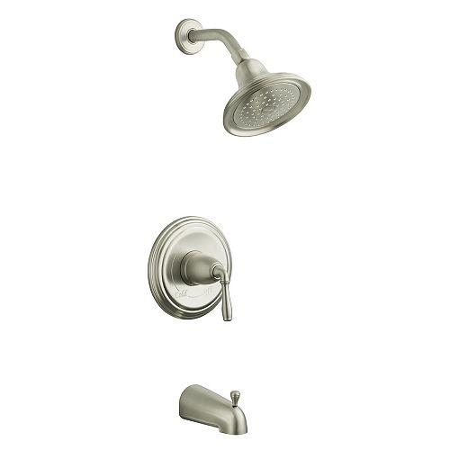 Devonshire Rite-Temp Pressure-Balancing Bath/Shower Faucet in Vibrant Brushed Nickel
