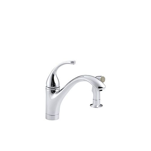KOHLER Forté Single-Control Kitchen Sink Faucet With Sidespray And Lever Handle In Polished Chrome