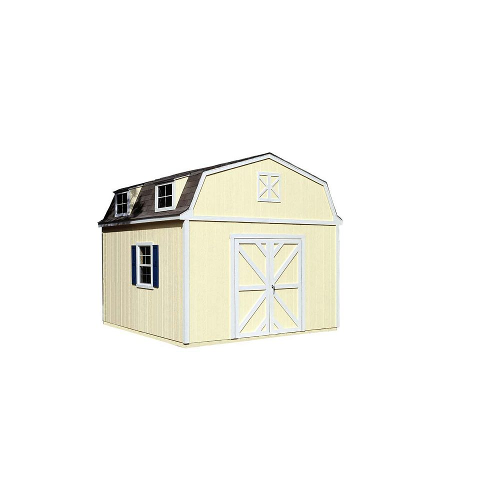Handy Home Products Sequoia 12 ft. x 12 ft. Storage Building Kit with Floor