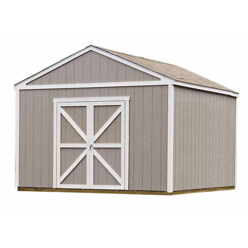 Handy Home Products 12 ft. x 12 ft. Columbia Storage Building Kit with Floor