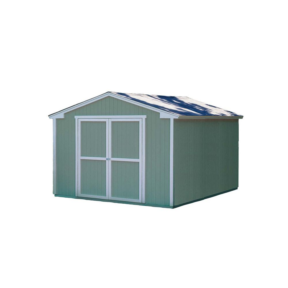 Handy Home Products Cumberland Storage Building Kit -   (10 Ft. x 12 Ft.)