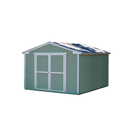 Handy Home Products Cumberland Storage Building Kit with Floor -  (10 Ft. x 12 Ft.)