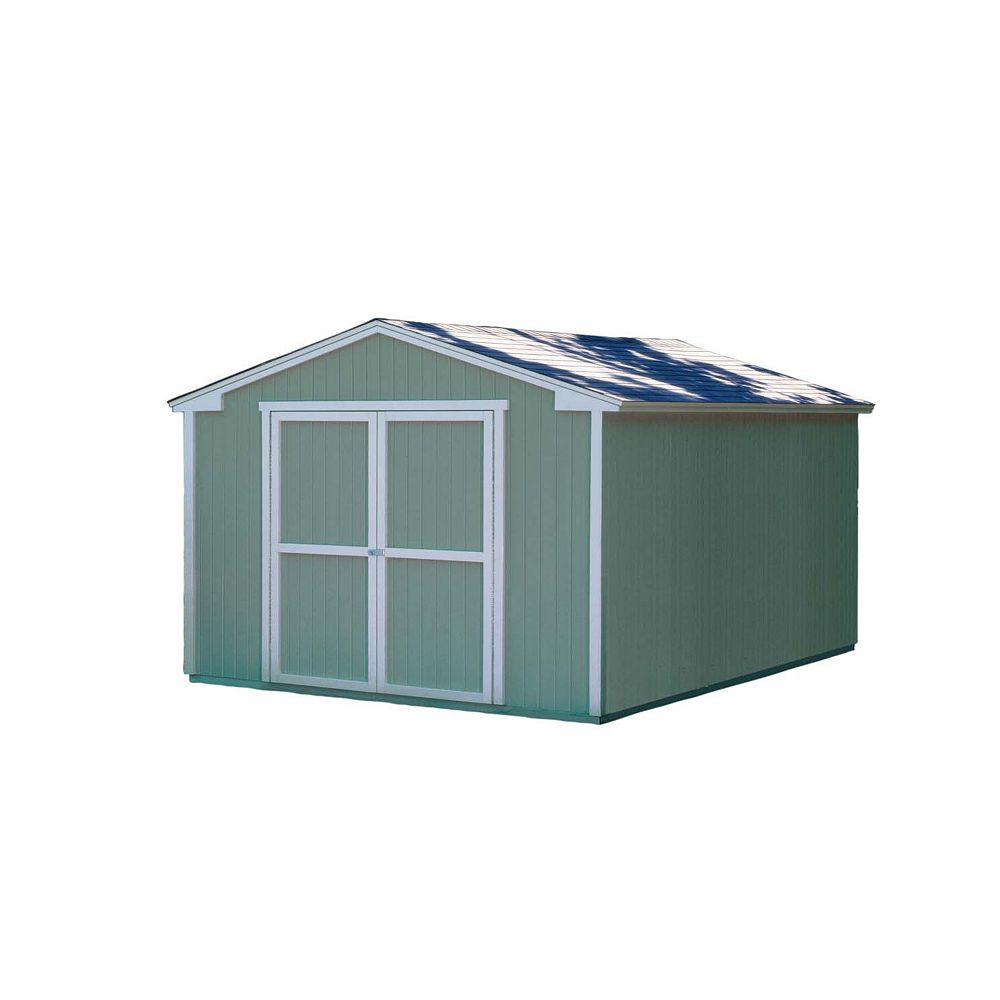 Handy Home Products Cumberland  Storage Building Kit with Floor -  (10 Ft. x 16 Ft.)