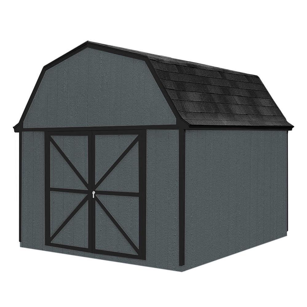 Handy Home Products Remise Berkley avec plancher, 10 pi x 10 pi, bois
