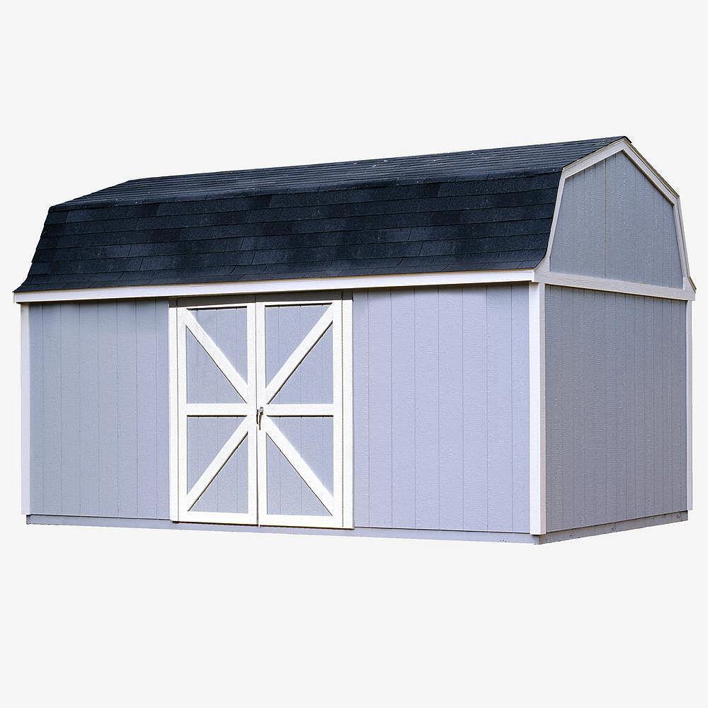 Handy Home Products Berkley Trousse d'abri de rangement avec plancher (10 Pi. X 18 Pi.)