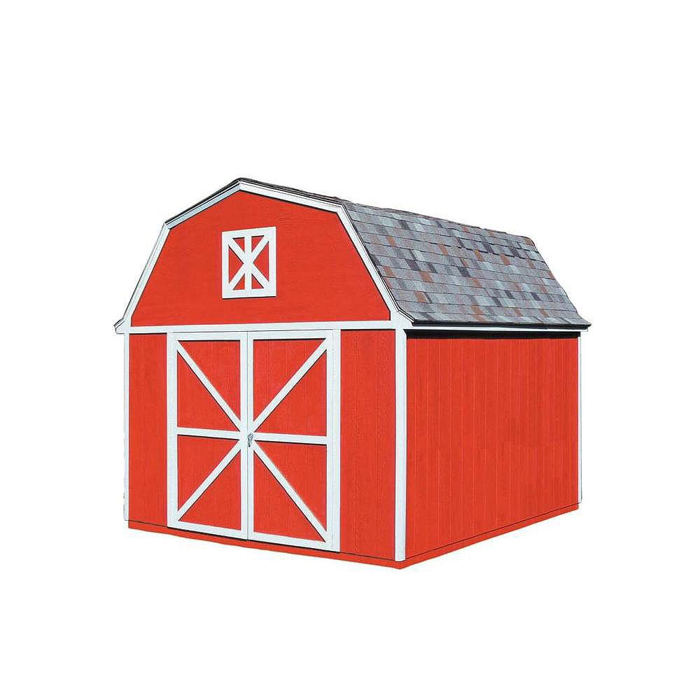 Handy Home Products Berkley 10 ft. x 12 ft. Storage Building Kit